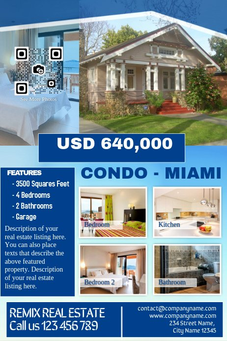 Real Estate Marketing Flyers Lovely Real Estate Marketing Flyer Blue Template
