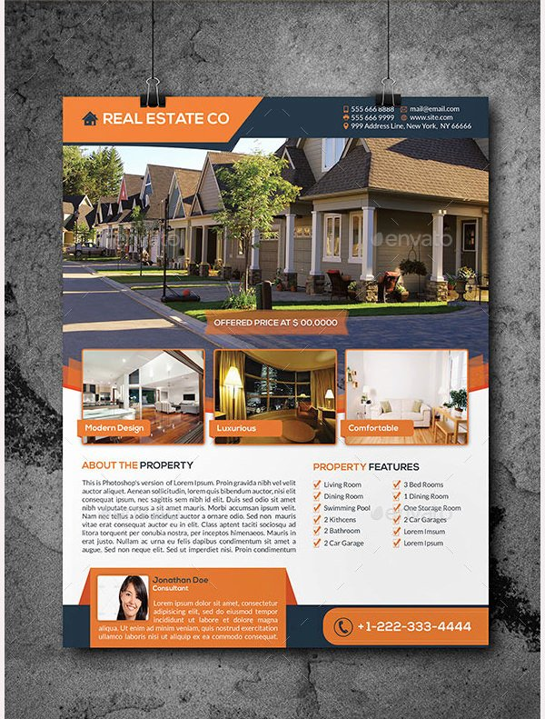 Real Estate Marketing Flyers New 18 Marketing Template Doc Excel Pdf Psd
