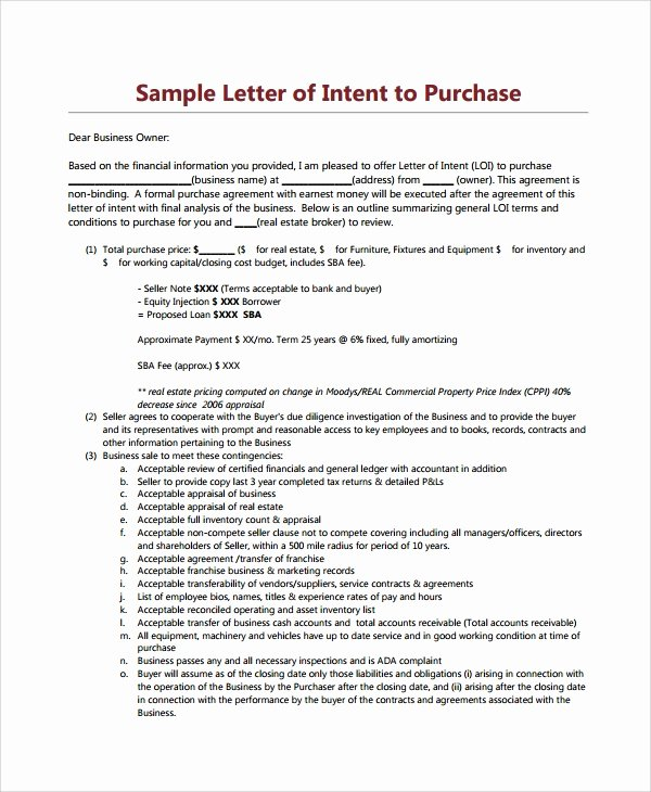 Real Estate Offer Letter Elegant 10 Letters Of Intent to Purchase Property Pdf Word