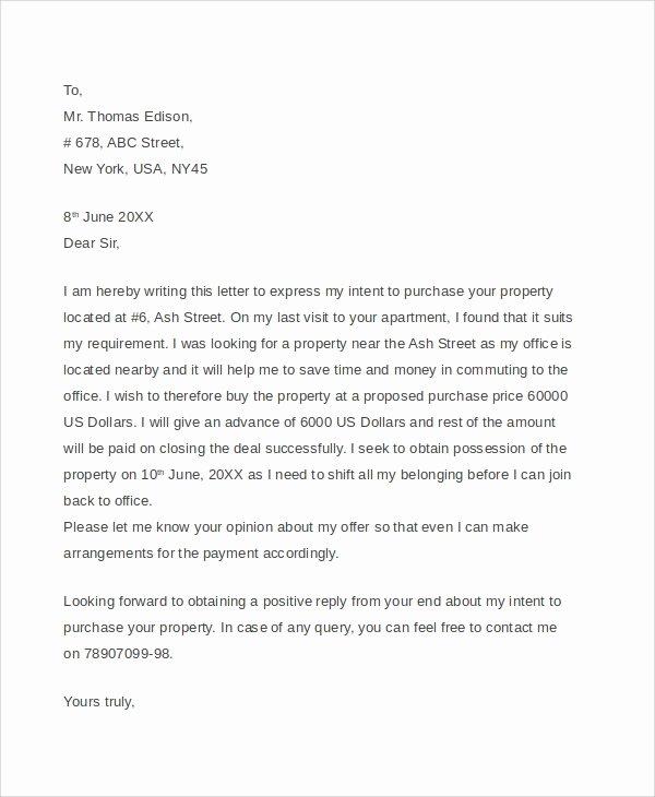 Real Estate Offer Letter Luxury 7 Sample Real Estate Fer Letters Pdf Word