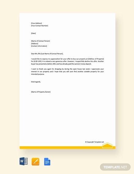 Real Estate Offer Letter Template Elegant Free Letter Template Of Intent for Real Estate Download