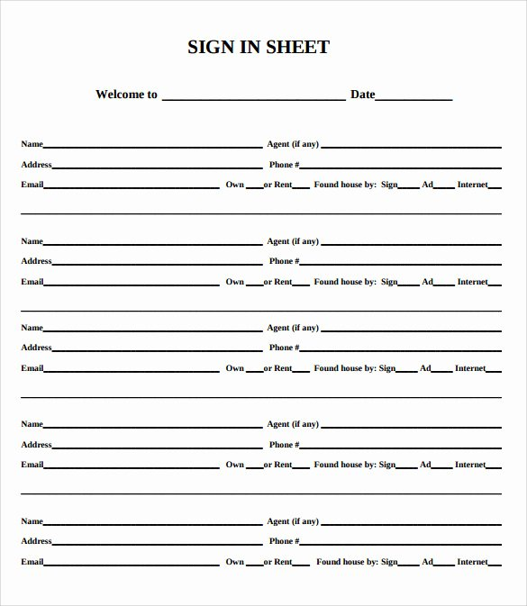 Real Estate Sign In Sheet Beautiful Sample Open House Sign In Sheet 14 Documents In Pdf
