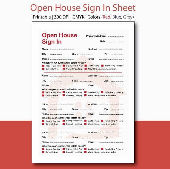 Real Estate Sign In Sheet Fresh Real Estate Open House Sign In Sheet Open House Sign In Open