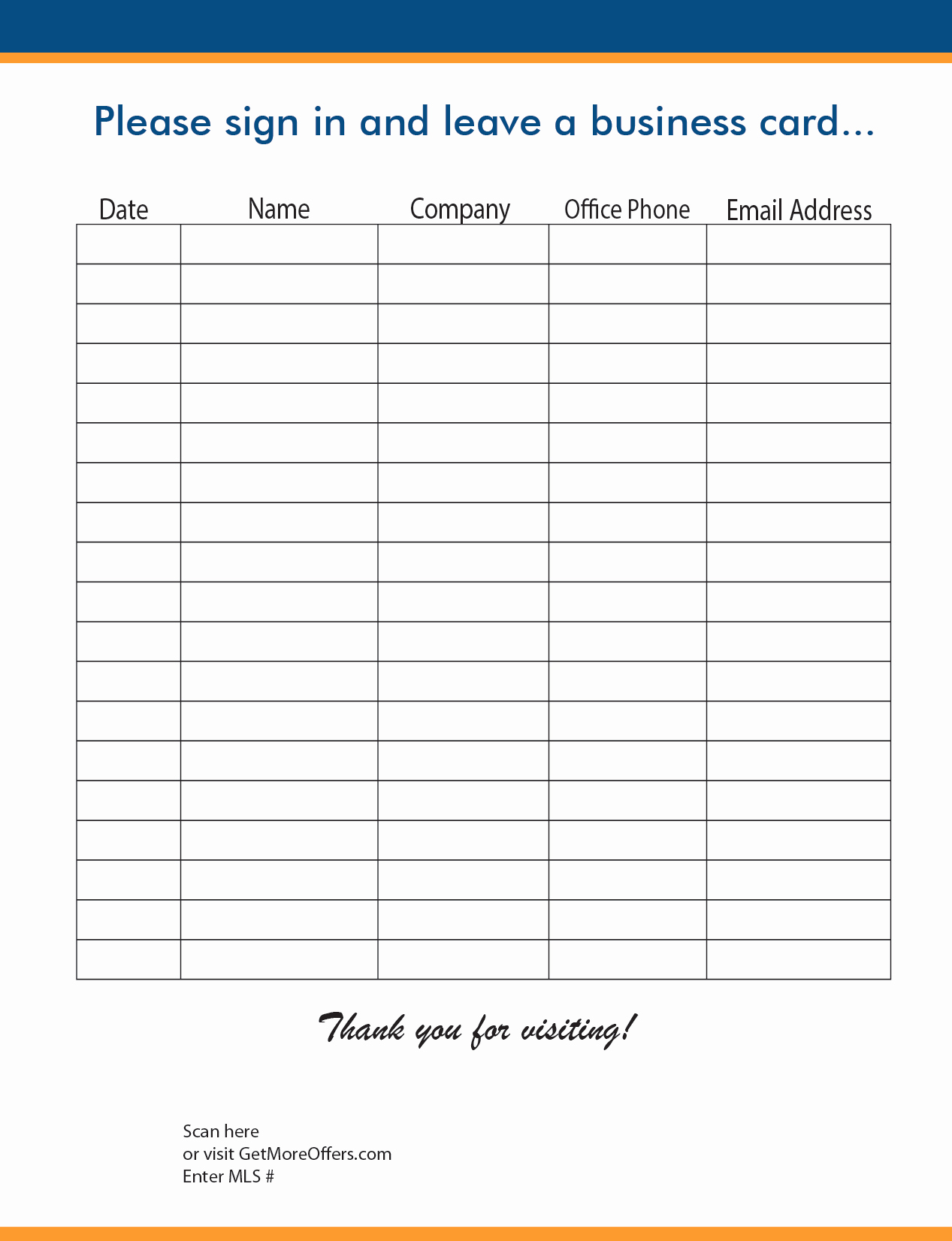 Real Estate Sign In Sheet Inspirational Open House Realtor Sign In Sheet Template