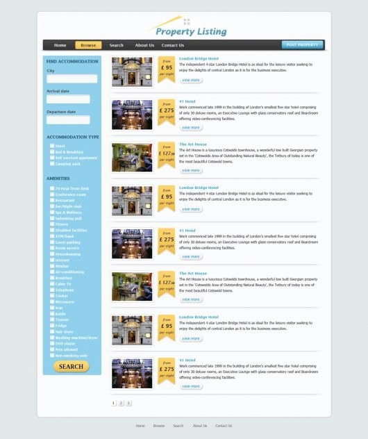 free real estate website template 76