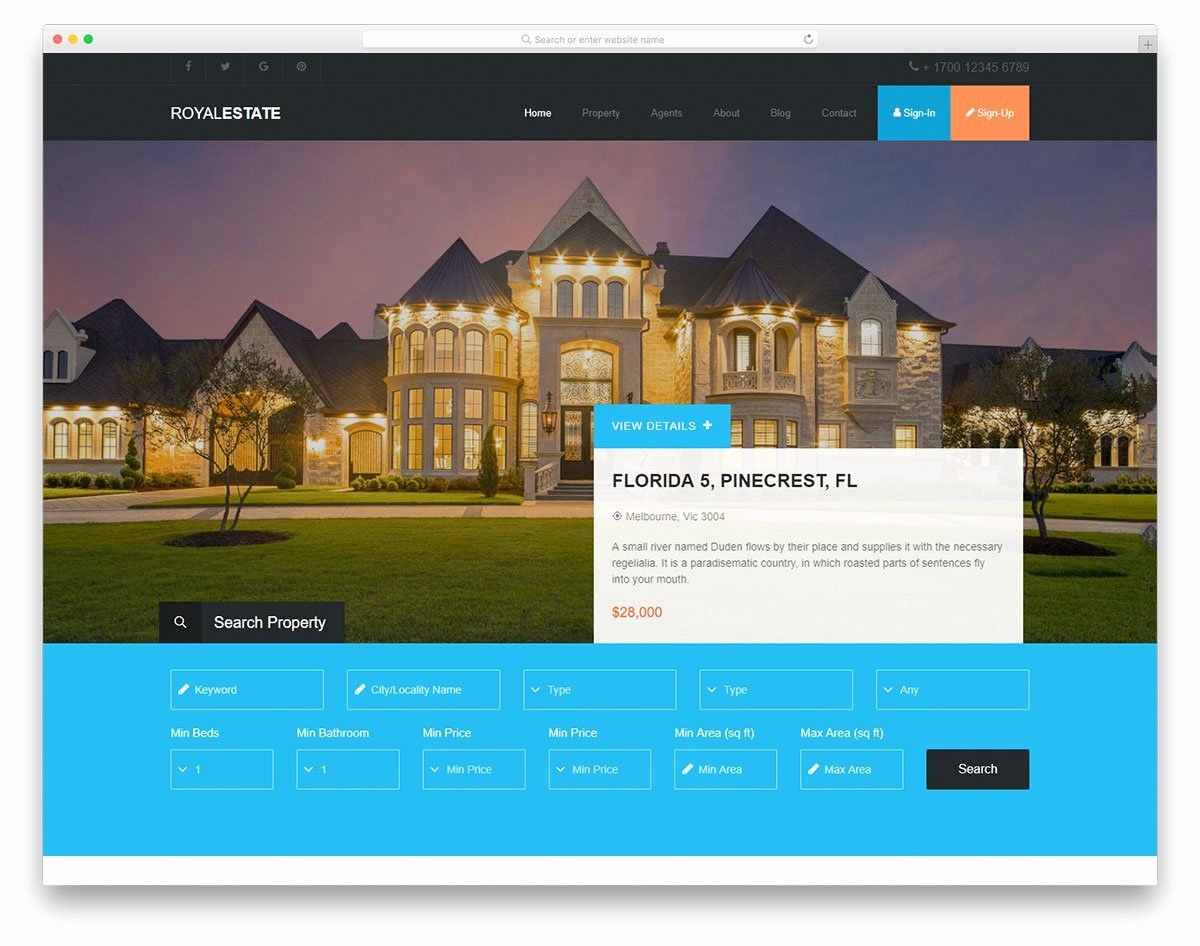 Real Estate Website Templates Beautiful 17 Best Free Real Estate Website Templates 2019 Colorlib