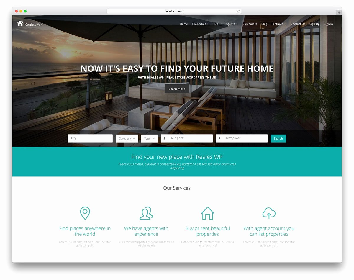 Real Estate Website Templates Best Of 37 Real Estate Wordpress themes for Agents & Realtors 2019