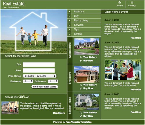 Real Estate Website Templates Best Of Real Estate Template