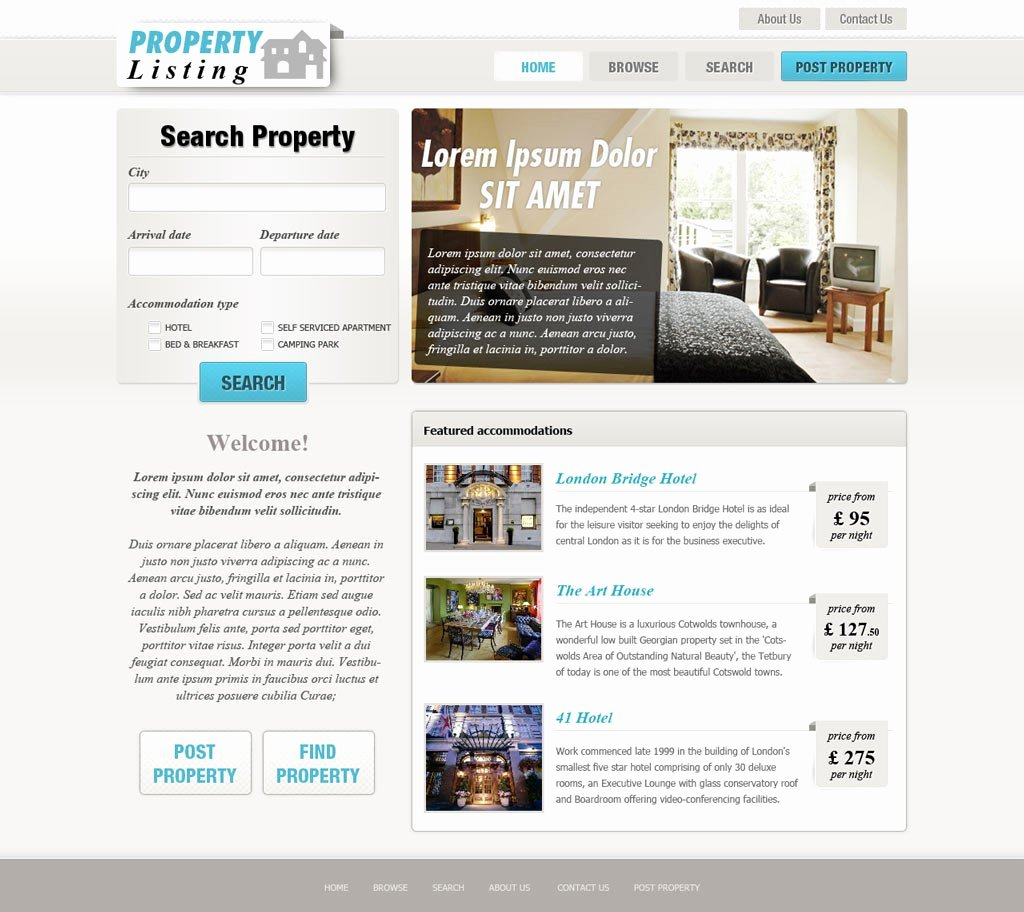 Real Estate Website Templates Best Of Real Estate Website Template