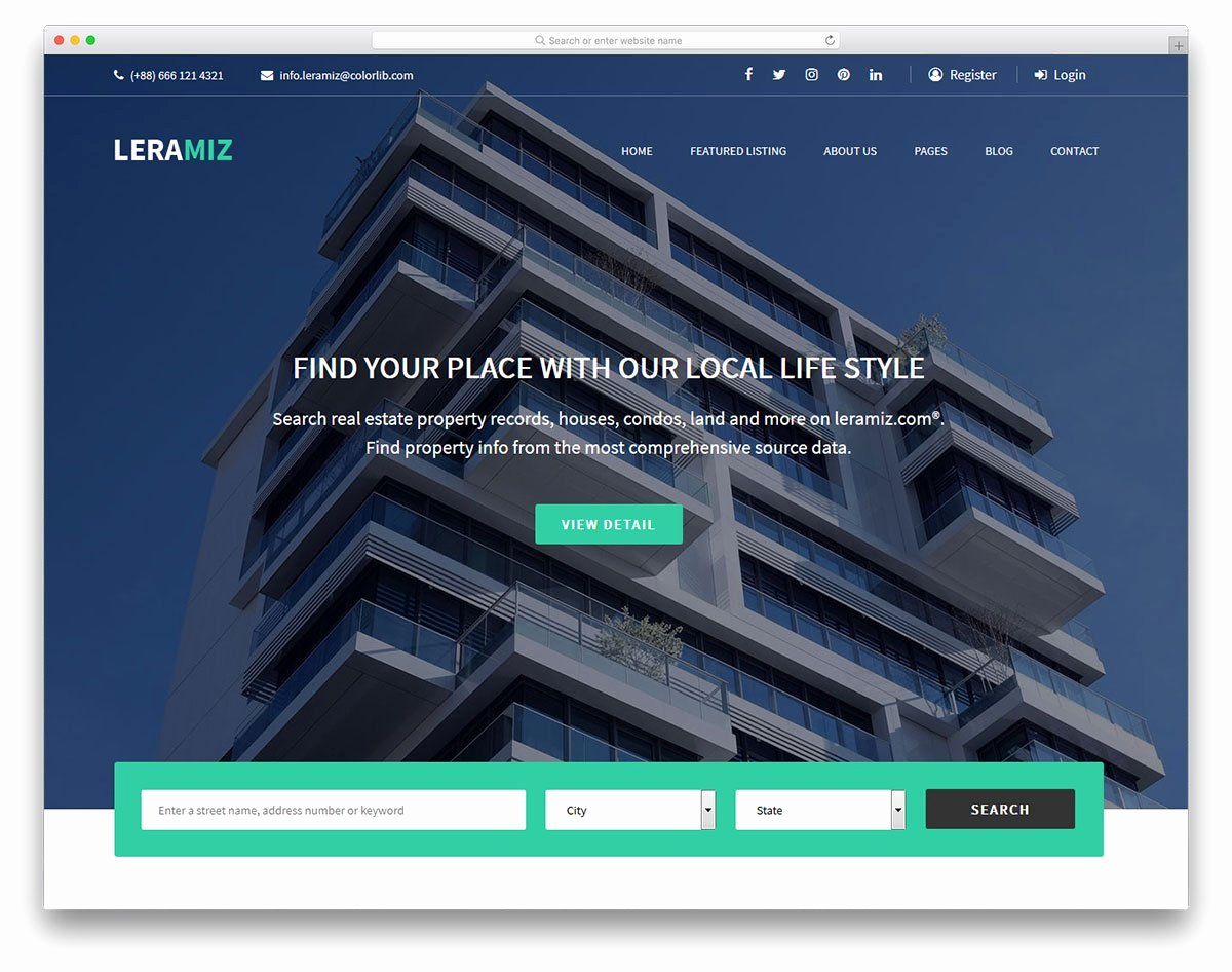 Real Estate Website Templates Elegant 17 Best Free Real Estate Website Templates 2019 Colorlib