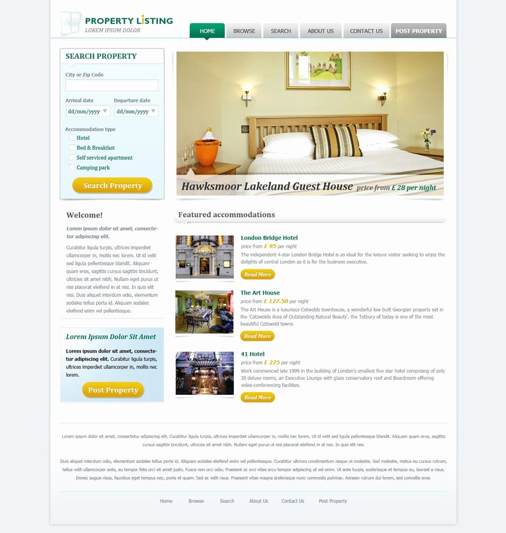 Real Estate Website Templates Fresh Real Estate Website Template