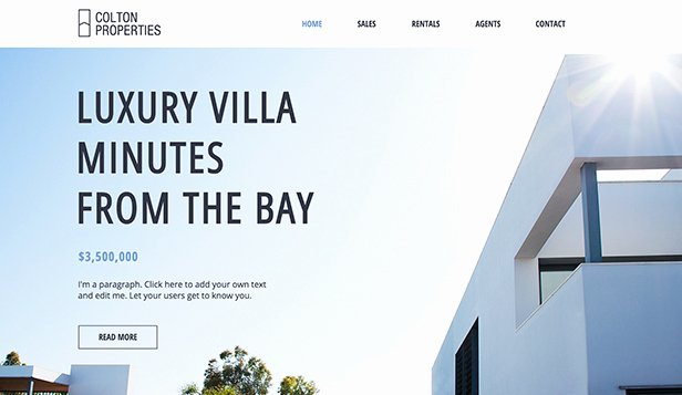 Real Estate Website Templates Fresh Real Estate Website Templates Business