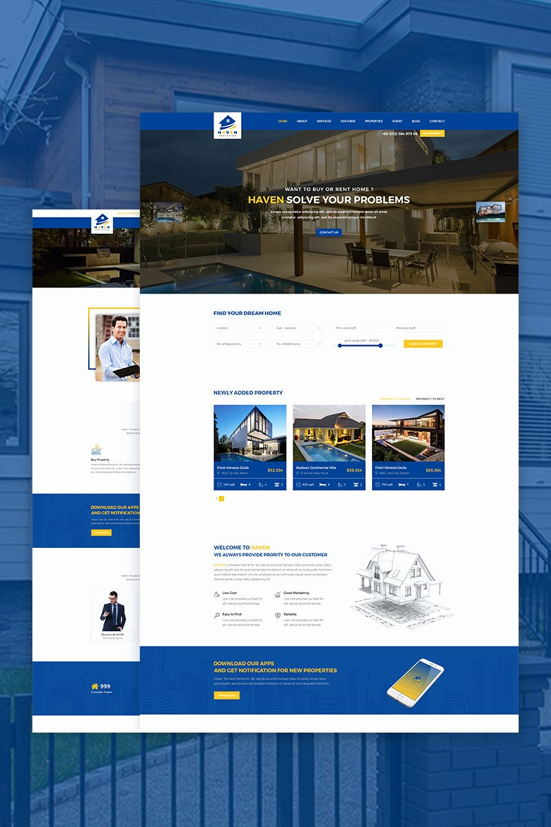 Real Estate Website Templates Inspirational Haven Real Estate Website Template