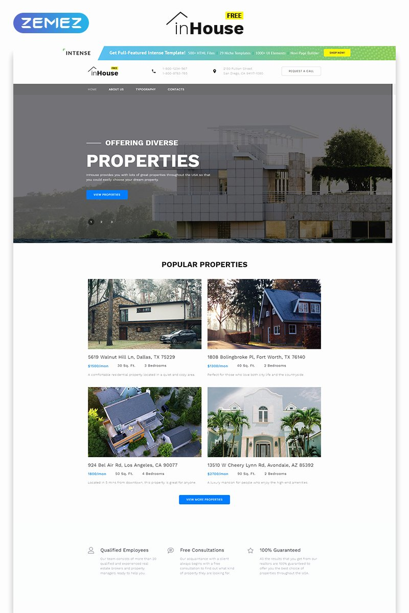 Real Estate Website Templates Lovely Free Website Template Real Estate