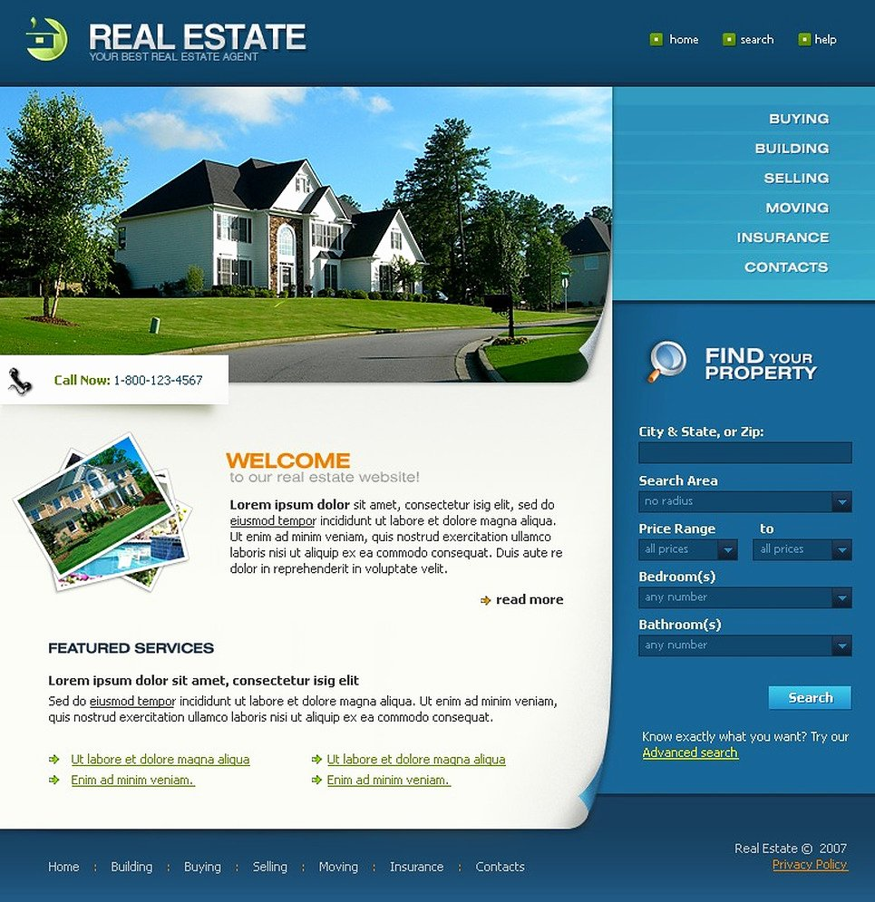 Real Estate Website Templates New Real Estate Agency Website Template