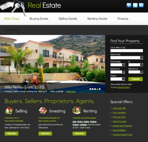 Real Estate Website Templates Unique Realestate Templates