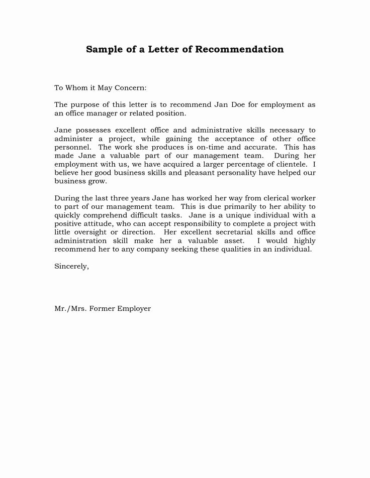Reference Letter for A Job Awesome Reference Letter Re Mendation Sample