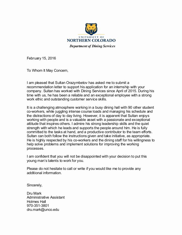 Reference Letter for A Job Beautiful Reference Letter 2 Part Time Job