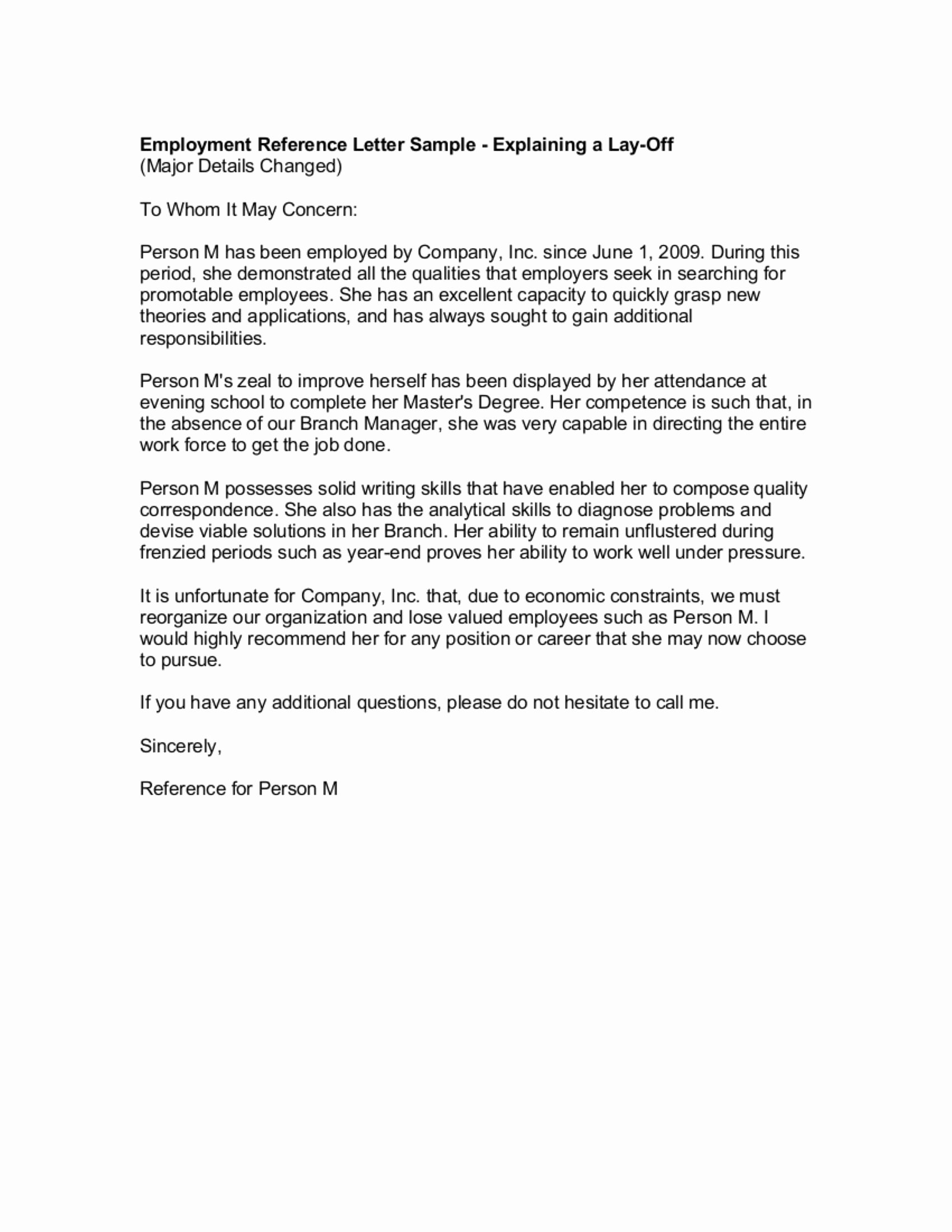Reference Letter for A Job Fresh 9 Reference Letter From A Previous Employer Examples