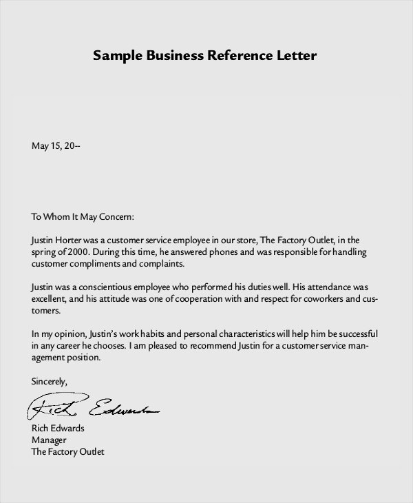 Reference Letter for A Job Luxury 8 Reference Letter Samples Examples Templates