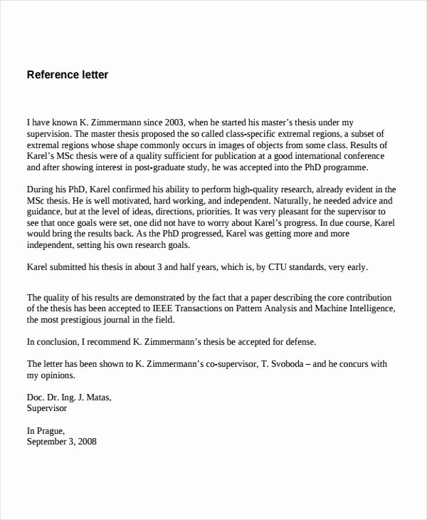 Reference Letter for A Job Unique 7 Job Reference Letter Templates Free Sample Example