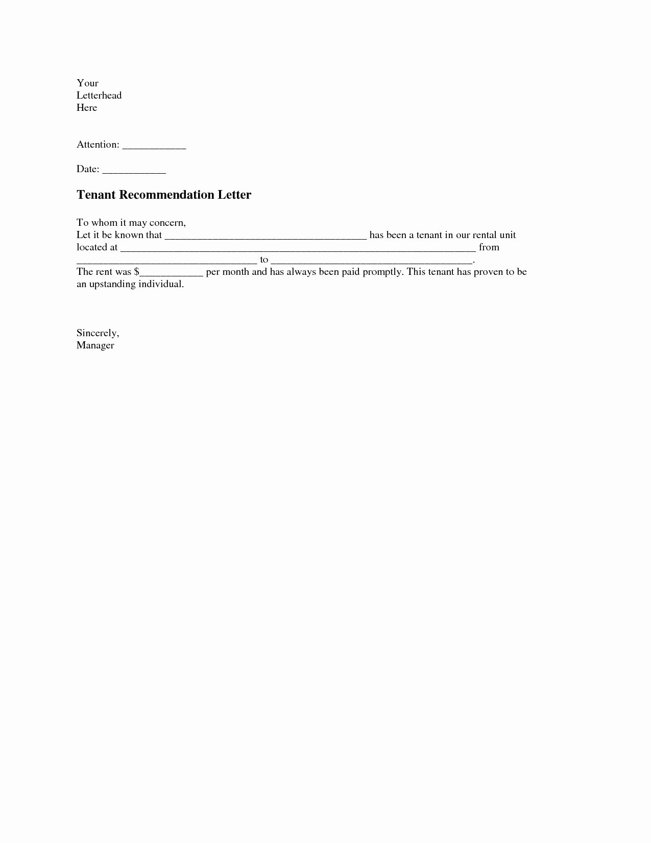 Reference Letter for Apartment Best Of Character Reference Letter for Apartment Rental Sample