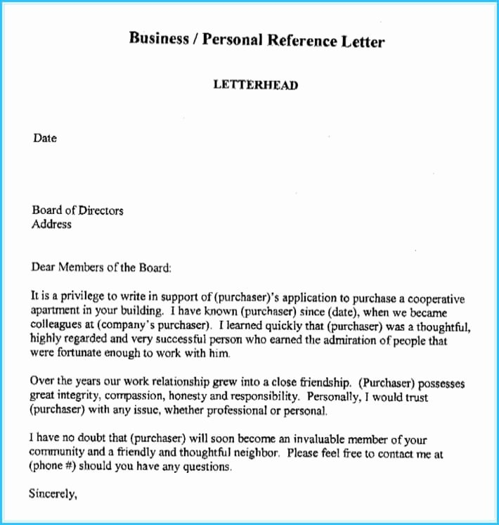 Reference Letter for Apartment Inspirational Business Reference Letter Write It Effectively 6 Best