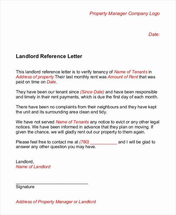 Reference Letter for Apartment Inspirational Landlord Reference Letter 5 Free Sample Example