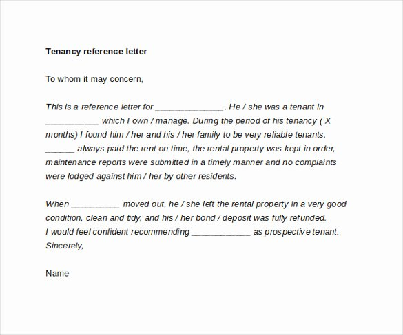 Reference Letter for Apartment Luxury Tenant Reference Letter 8 Documents In Pdf Word