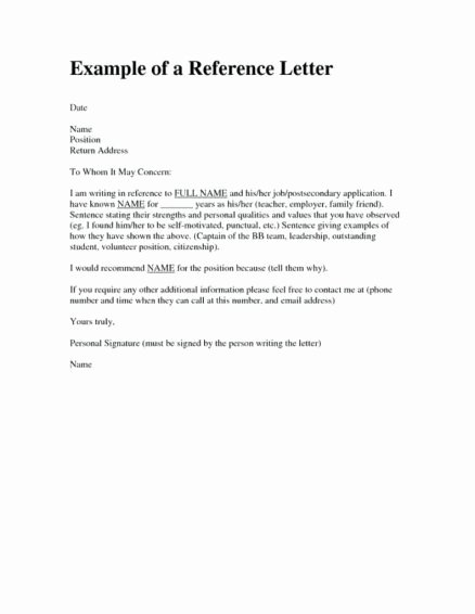 Reference Letter for Apartment New Character Reference Letter for Apartment Rental Sample