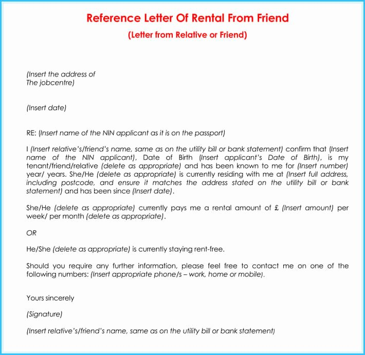 Reference Letter for Apartment Unique Rental Reference Letter 9 Samples formats for