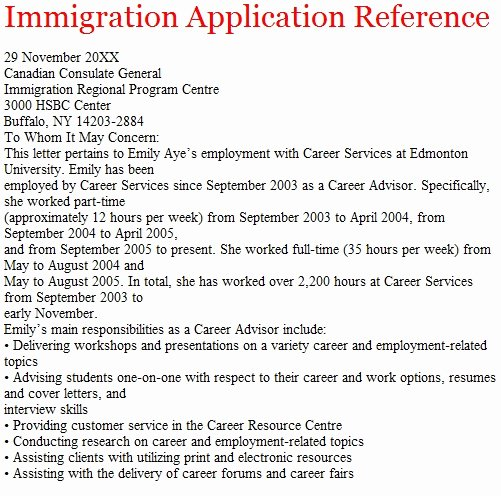 Reference Letter for Immigration Fresh Immigration Examples Immigration and assimilation In
