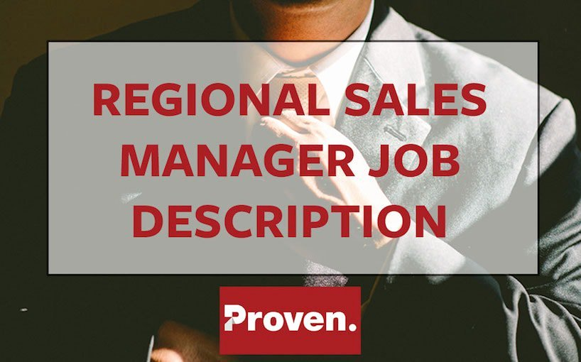 Regional Sales Manager Job Description Awesome the Perfect Restaurant Manager Job Description – Proven