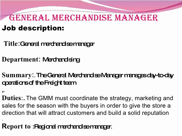 Regional Sales Manager Job Description Elegant Job Analysis In Retail Sector