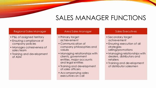 Regional Sales Manager Job Description Lovely Sales Management Fmcg Presentation