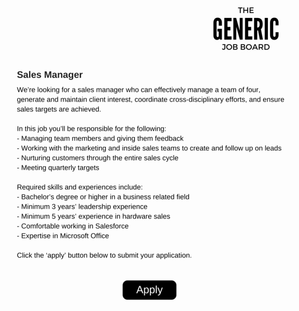 Regional Sales Manager Job Description Lovely Understanding Your Candidates Part I why A Good Job