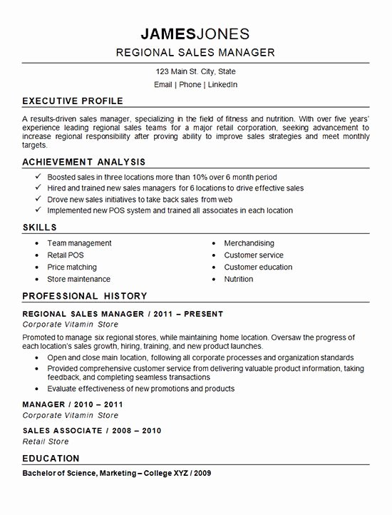 Regional Sales Manager Job Description Unique 266 Best Resume Examples Images On Pinterest