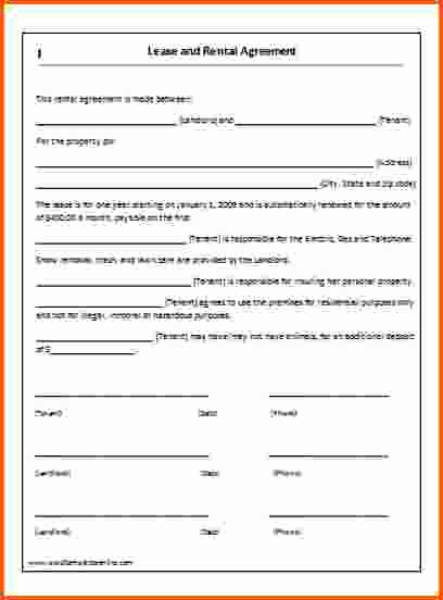 Rental Agreement Template Word Best Of 6 Rental Lease Agreement Template Word