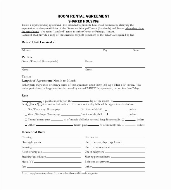 Rental Agreement Template Word New Free Lease Agreement Template Word