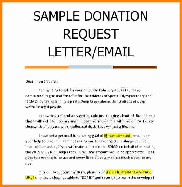 Request for Donations Letter Beautiful 11 Donation Request Letter Template