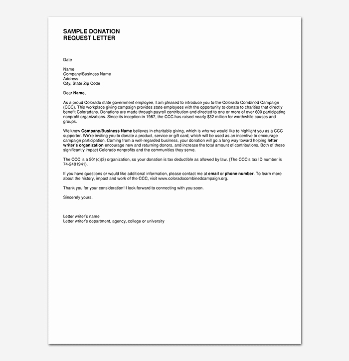 Request for Donations Letter Best Of Donation Request Letter Template Messages Examples
