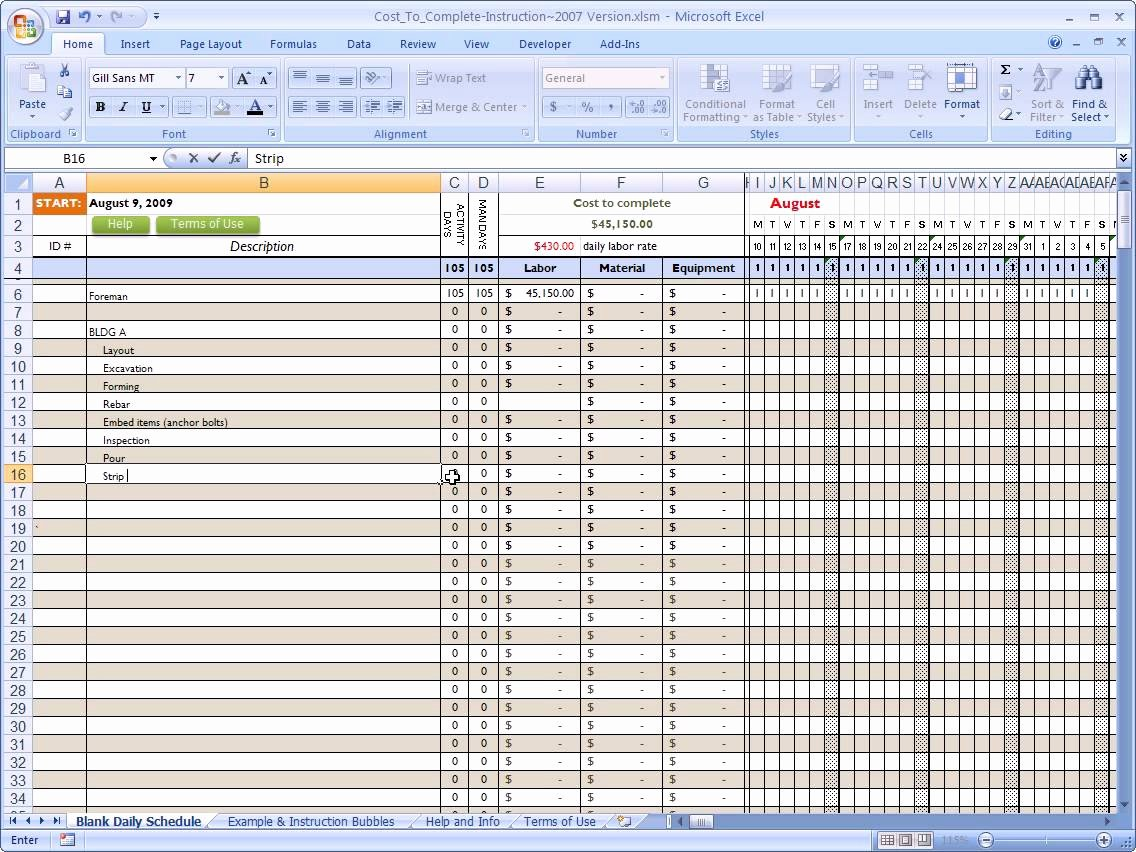Residential Construction Budget Template Excel Awesome Excel Spreadsheet for Construction Estimating Free