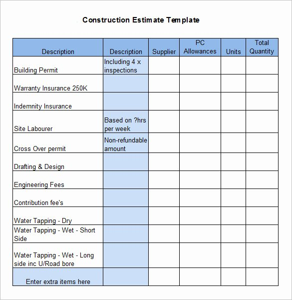 Residential Construction Budget Template Excel Best Of Residential Construction Bud Template Excel