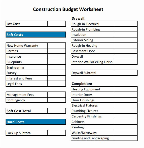 Residential Construction Budget Template Excel Luxury Residential Construction Bud Template Excel
