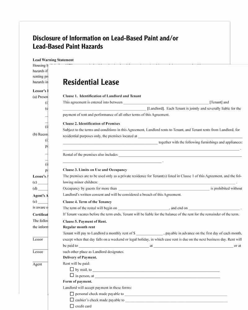 Residential Rental Agreement form Inspirational Adams Residential Lease forms and Instructions