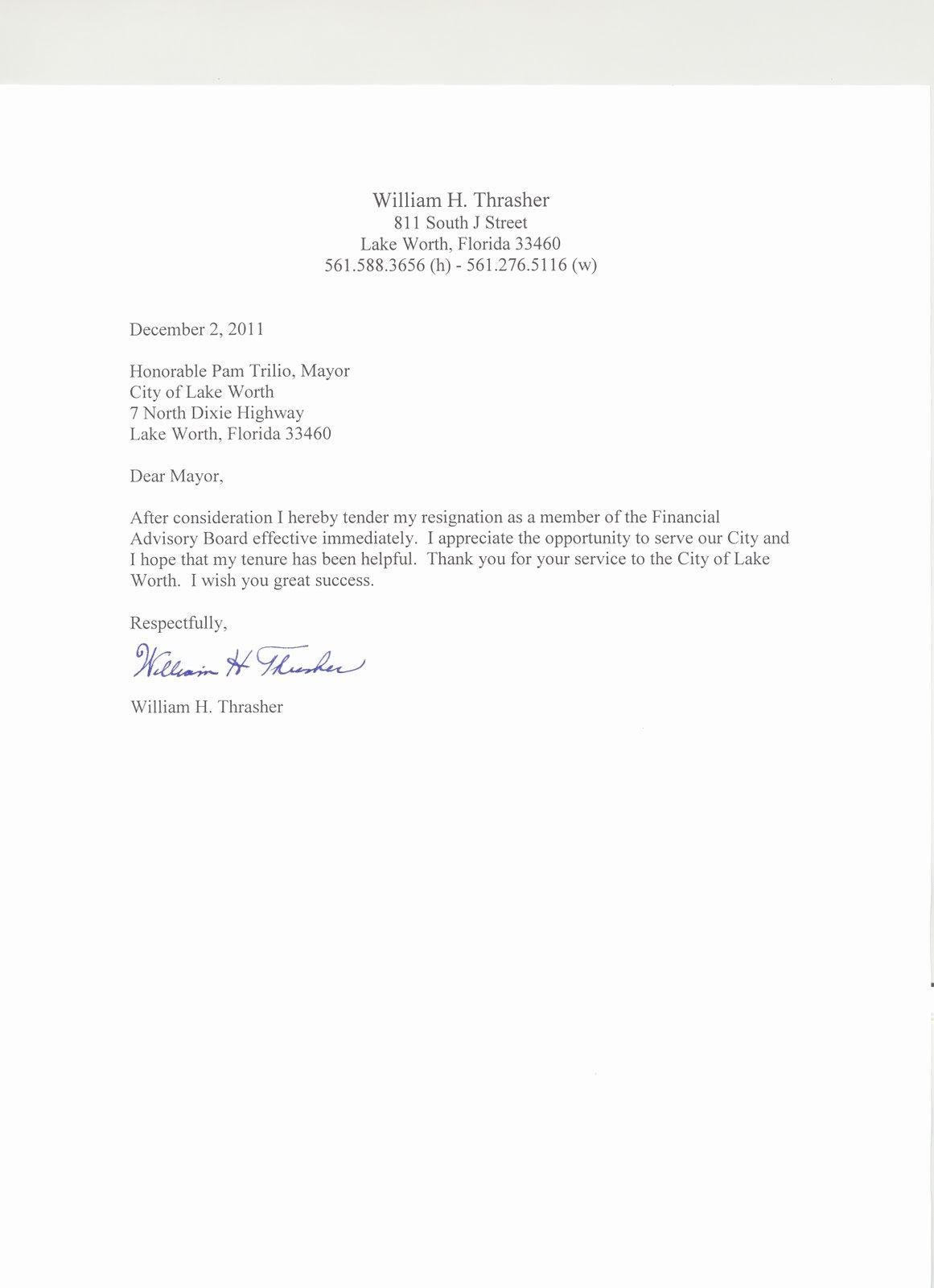 Resignation Letter Effective Immediately Beautiful Lynn S Little Bit Of Trivia Bill Thrasher Resignation Letter