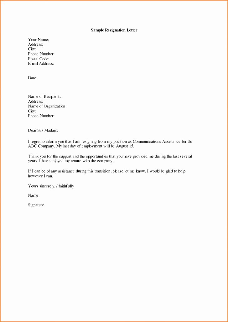 Resignation Letter Effective Immediately Best Of Simple Resignation Letter Effective Immediately Filename