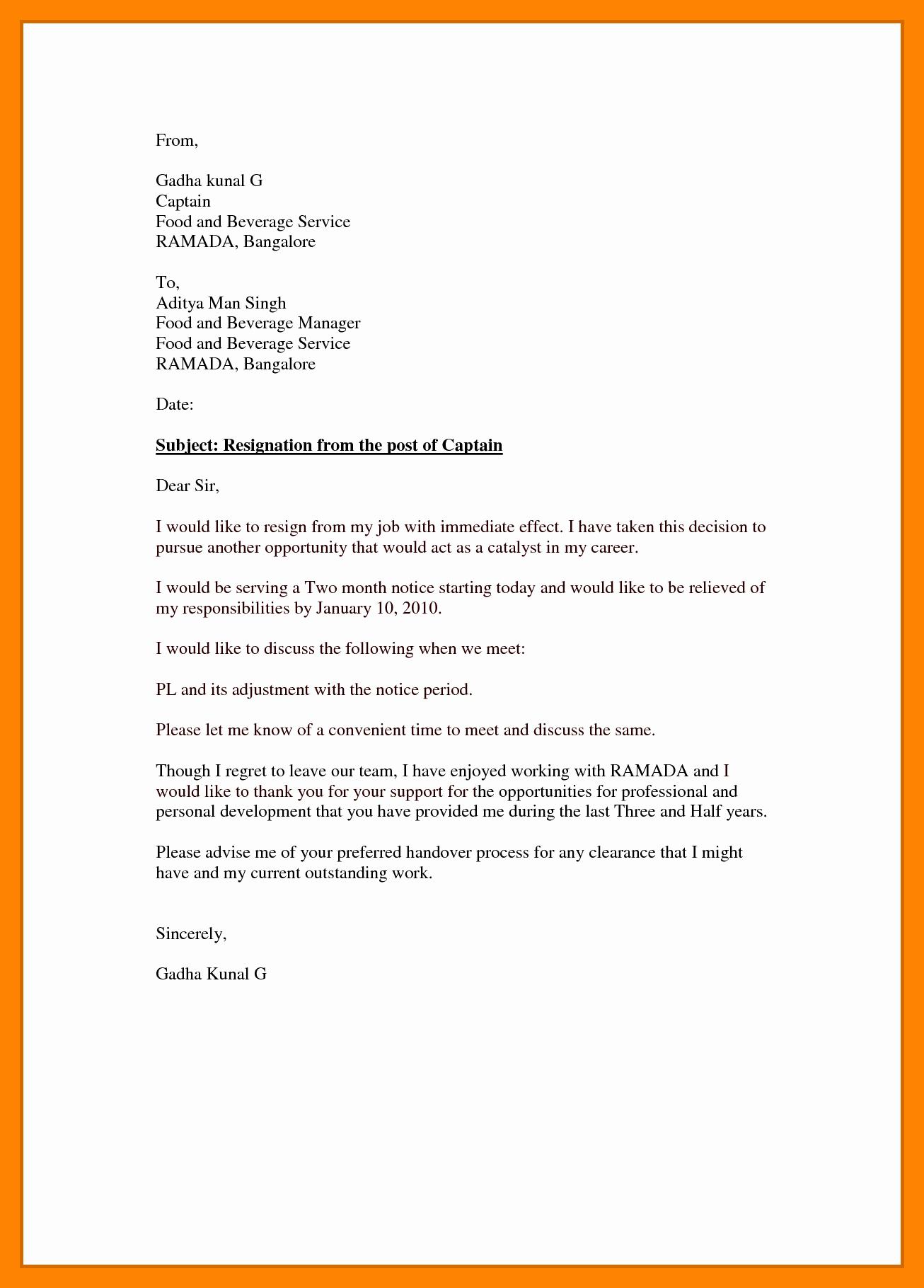 Resignation Letter Effective Immediately Fresh 5 Resignation Letter Samples Effective Immediately