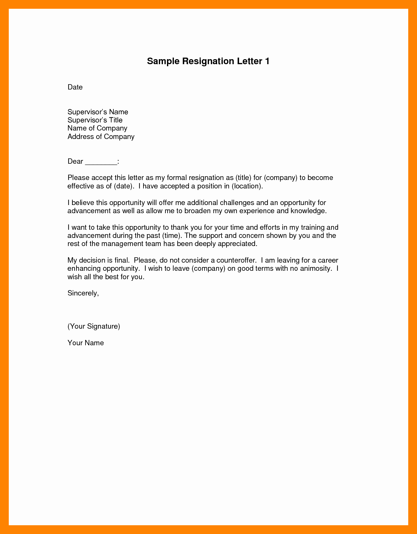 Resignation Letter Effective Immediately Fresh 7 Official Resignation Letter Template