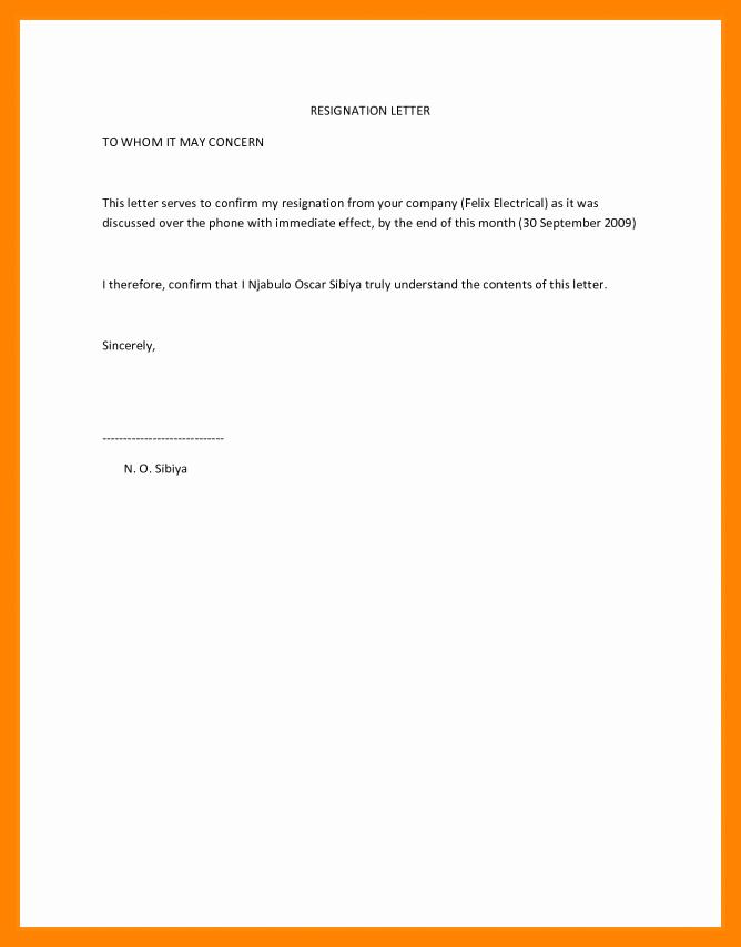 Resignation Letter Effective Immediately Lovely 5 Resignation Letter Sample Effective Immediately